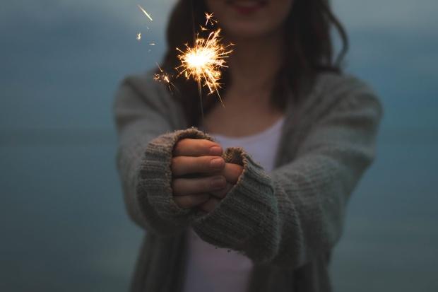 woman spark